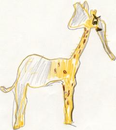 De gele girafant