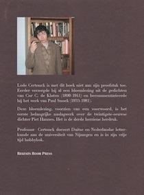 Bloemlezing uit de gedichten van Piet Hannes, achterplat