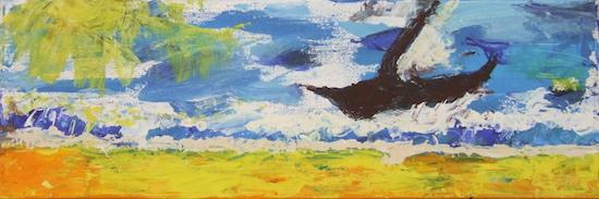 schilderij Dicky Zeilstra bij gedicht Marcel Hendrikx
