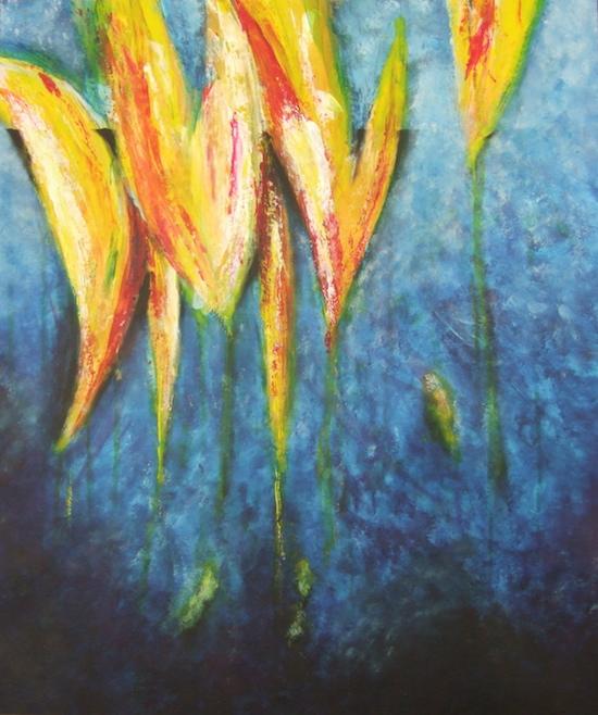 schilderij Frank Jacobs bij gedicht Claire Faasen