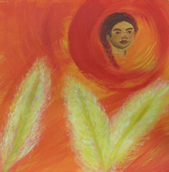 schilderij Margret Wiersma bij gedicht Merijn Meulensteen