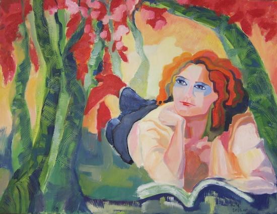 schilderij Rita Petit bij gedicht Marijne Bult