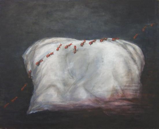 schilderij Silvia Geurds bij gedicht Judy Elfferich
